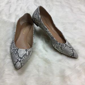 Audrey Brooke Snakeskin Ballet Flats sz. 8